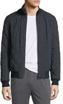 Zegna Sport Techmerino Reversible Quilted Bomber Jacket