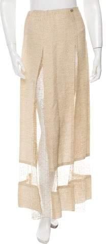 Chanel Mesh-Accented Midi Skirt