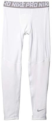 Nike Kids Pro Tights (Little Kids/Big Kids) (White/Atmosphere Grey) Boy's Casual Pants