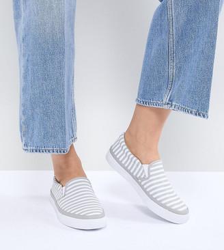 ASOS DESIGN Dab Wide Fit Stripe Sneakers