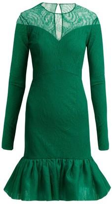Emilio De La Morena Lucretia Silk And Lace Dress - Womens - Green
