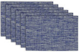DESIGN IMPORTS Design Imports Nautical Blue Tweed Set of 6 Placemats
