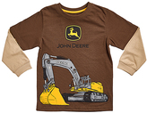 John Deere Brown & Khaki Excavator Long-Sleeve Tee - Boys