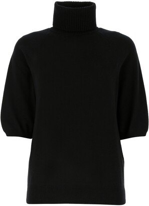 Saint Laurent Turtleneck Cropped Sleeve Jumper