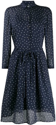 Paul Smith Polka-Dot Print Seersucker Shirtdress