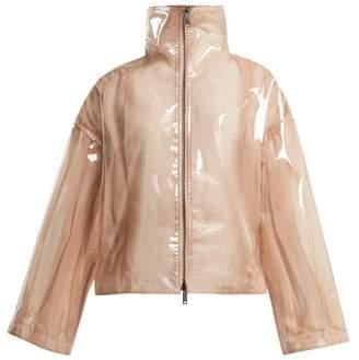 Valentino Stand-collar Semi-sheer Vinyl Jacket - Womens - Beige