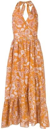 Nicholas Paisley-Print Midi Dress
