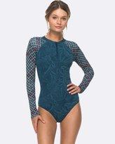 Roxy Womens Jungle Onesie Zipped Long Sleeve Rash Vest