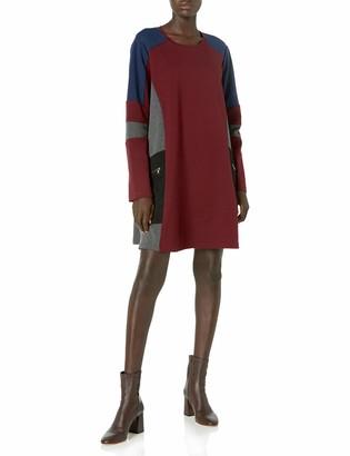 BCBGMAXAZRIA Azria Women's Gigi Color Block Knit Dress with Zip Details