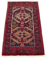 """One-of-a-Kind Rawald Southwestern Hand-Knotted Runner 3'3"""" x 6'7"""" Wool Red Area Rug World Menagerie"""