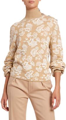 Chloé Lace Jacquard Turtleneck Sweater