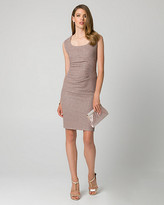 Le Château Sparkle Knit Square Neck Cocktail Dress