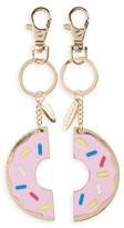 Topshop Women's Set Of 2 Doughnut Best Friend Key Rings - Metallic