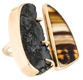 Melissa Joy Manning 14K Agate & Druzy Upside Down Ring