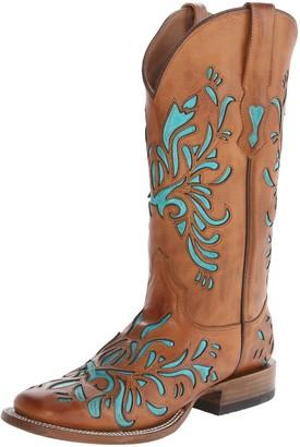Stetson Women's 13 Inch Burnished Saddle Underlay Riding Boot
