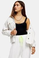Topshop PETITE Black Lace Bodysuit