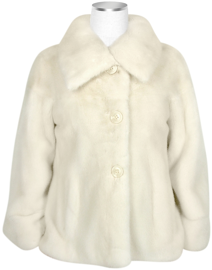 Forzieri Ultimate Luxury Collection Pearl Mink Fur Button-front Jacket