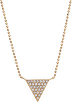Nadri Ball Chain Crystal Pave Triangle Pendant Necklace