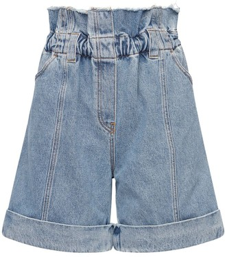 Philosophy di Lorenzo Serafini Liberty Belted Cotton Denim Shorts
