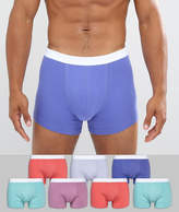 Asos Trunks In Pastel Colours 7 Pack
