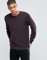 Selected Homme Basket Stitch Knitted Jumper