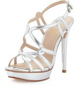 Pelle Moda Flirty Strappy Leather Sandal, Silver