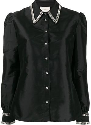 Giuseppe di Morabito Raw Satin Embellished Shirt