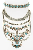 BaubleBar Women's Xenia Choker Bib Necklace