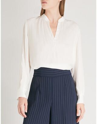 Zadig & Voltaire Ladies Blanc White Satin Top, Size: L