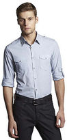 Kenneth Cole Long Sleeve Military Shirt