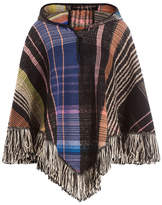 Missoni Hooded Wool Poncho with Alpaca, Mohair and Silk