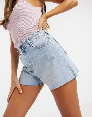 Replay mom shorts in light blue