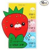 Tony Moly [TONYMOLY] Seedless Strawberry Seeds 3-step Nose Pack 6g (2. 10 Set)
