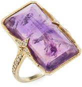 Ila Women's Violeta Amethyst & Diamond Ring