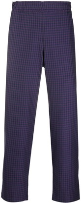 Paccbet Rassvet cropped check trousers