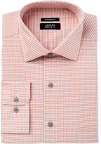 Alfani Black Men's Fitted Performance Stretch Easy Care Fine Gingham Dress Shirt, Only at Macy's