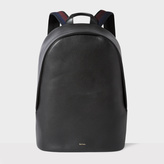Paul Smith Men's Black Leather 'City Webbing' Backpack