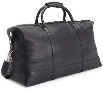 ROYCE New York Weekender Leather Duffel Bag