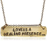 "Alisa Michelle Back To Basics"" Gold-Plated Love Is A Healing Presence Chain Necklace, 18"""