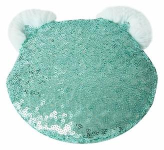 Pottery Barn Teen Sequin Mint Cat Pouch