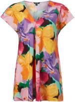 Lauren Ralph Lauren Andreya cap sleeve printed top