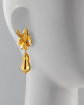 Jose & Maria Barrera Gold-Plated Crystal-Spike Clip Earrings