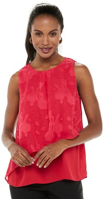 Elle Women's Asymmetrical Woven Shell Top