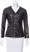 Chanel Leather Three-Quarter Sleeve Jacket w/ Tags