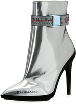 Off-White For Walking Metallic Leather Ankle Boot