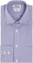 T.M.Lewin Men's Gingham Check Slim Fit Long Sleeve Formal Shirt