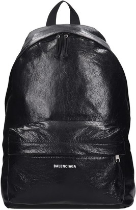 Balenciaga Explorer Backpack In Black Leather