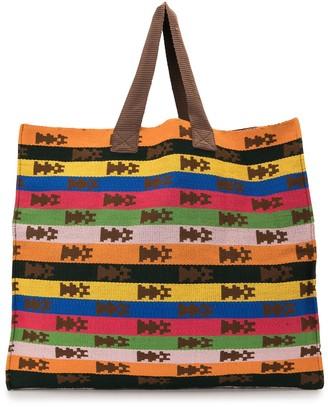 Sophie Anderson Mercato horizontal-stripe tote bag