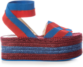 Stella McCartney Striped bi-colour espadrille sandals