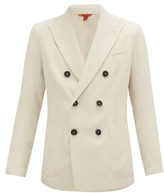 Barena Venezia - Double-breasted Drill Blazer - Mens - Beige